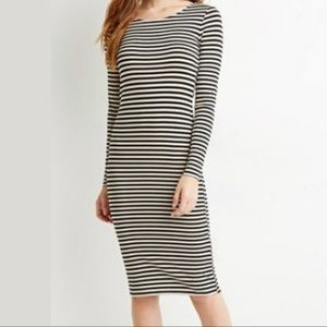 Forever 21 - Bodycon striped midi dress